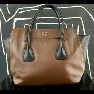 Prada Tote Satchel Leather Crossbody Bag